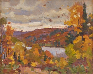 Artwork by Peter Clapham Sheppard, Lake of Bays
