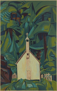 Artwork by Emily Carr, Indian Church