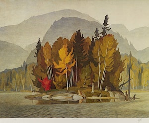 Artwork by Alfred Joseph Casson, Early Snow; Approaching Thunderstorm; Sunlit Island