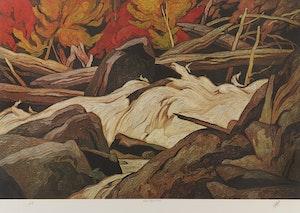 Artwork by Alfred Joseph Casson, Below Ragged Falls; Winter Sun; Sunshine After Rain