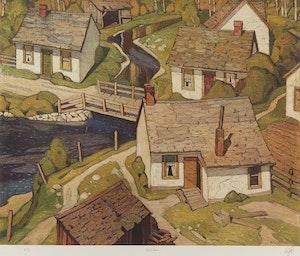 Artwork by Alfred Joseph Casson, Mill House; Birch Island; In the Islands, Georgian Bay