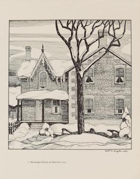 Artwork by Carl Fellman Schaefer, 12 Farm Drawings- 1927-1932