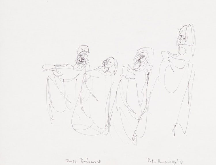 Artwork by Rita Briansky,  Dress Rehearsal; Time Out; Wendy Playing the Recorder; Carl Sandberg