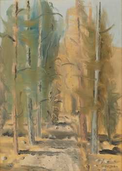 Artwork by Stanley Morel Cosgrove, Path through the Trees