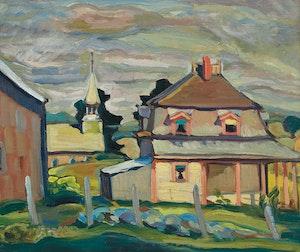Artwork by Nora Frances Elisabeth Collyer, Frost Village, Eastern Townships