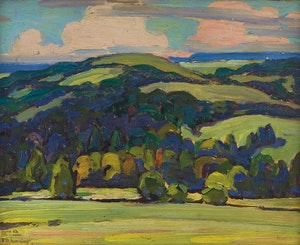 Artwork by Frederick Nicholas Loveroff, Valley in Summer