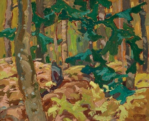 Artwork by Franklin Carmichael, Bracken, Lansing