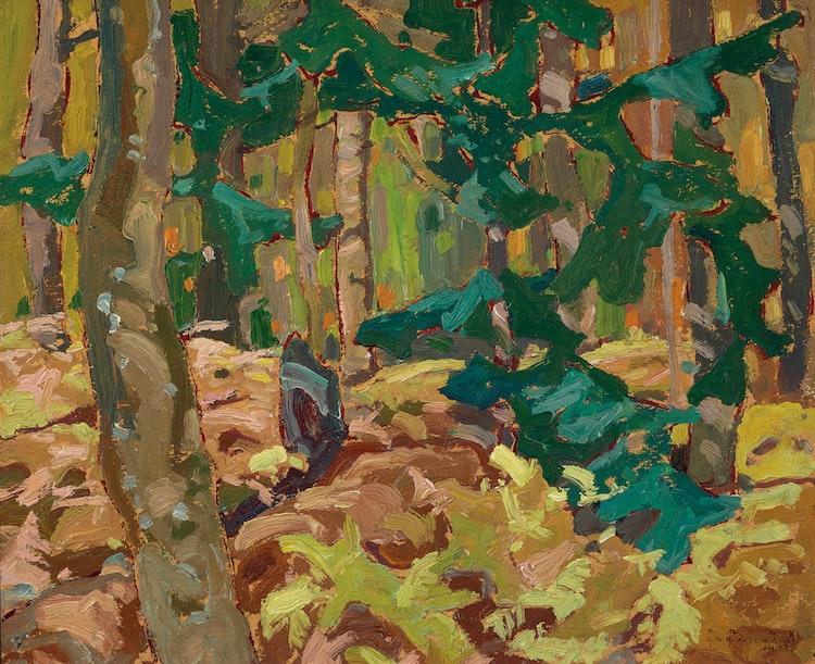 Artwork by Franklin Carmichael,  Bracken, Lansing