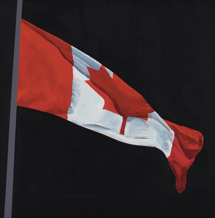 Artwork by Charles Pachter,  Painted Flag