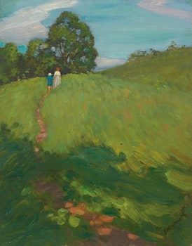 Artwork by James Edward Hervey MacDonald, A Hill Path, High Park