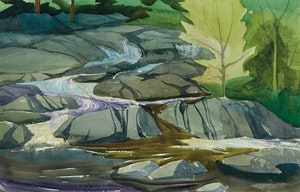 Artwork by Doris Jean McCarthy, The Rapids on Crowe River