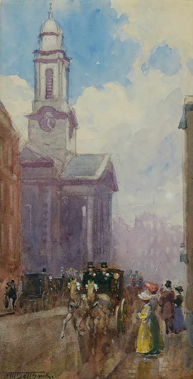 Artwork by Frederic Marlett Bell-Smith,  St. George's Hanover Square