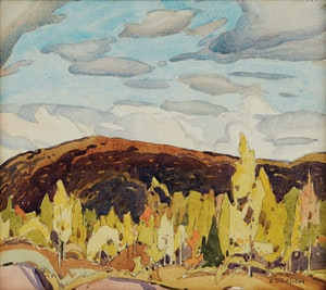 Artwork by Alfred Joseph Casson, Credit Forks (1928)