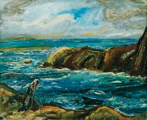 Artwork by Arthur Lismer, Seascape