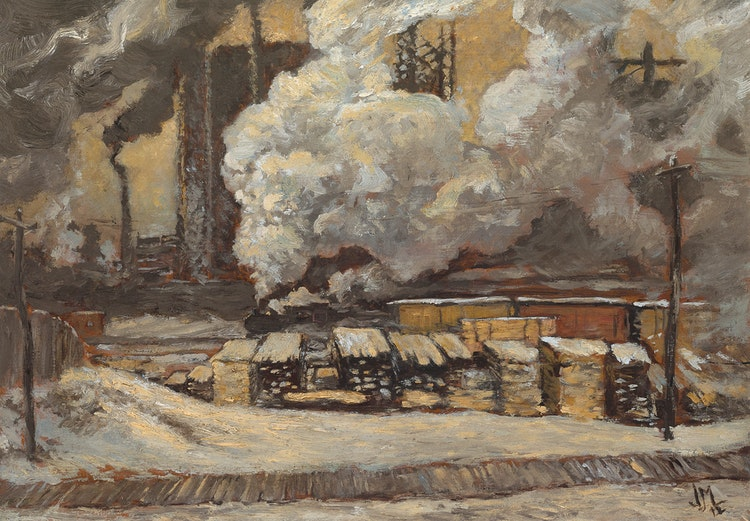Artwork by James Edward Hervey MacDonald,  Tracks and Traffic