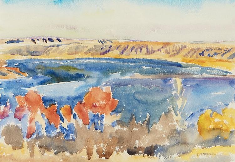 Artwork by Dorothy Elsie Knowles,  Blue River