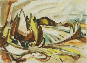 Artwork by Alexander Samuel Millar, Abstract Mountain Landscape; Forest Landscape