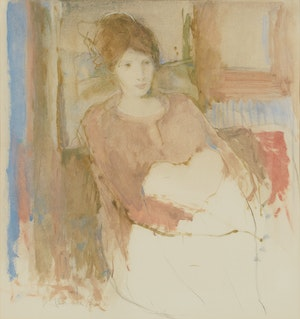 Artwork by Peter Alfred Harris, Seated Woman