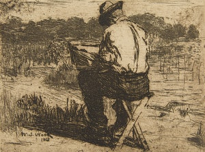 Artwork by William John Wood, The Artist at Work