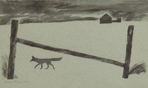 Artwork by Thoreau MacDonald, Anchor Post and Fox
