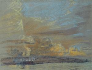 Artwork by Joseph Francis Plaskett, New Westminster Series #72