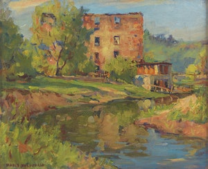 Artwork by Manly Edward MacDonald, Old Mill, Toronto