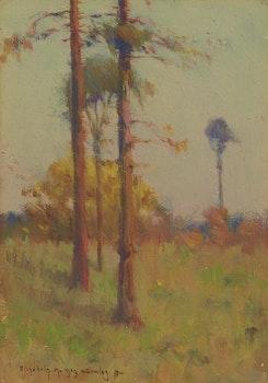 Artwork by Elizabeth Annie McGillivray Knowles, Trees