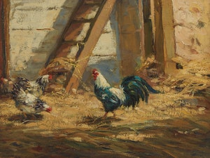 Artwork by Elizabeth Annie McGillivray Knowles, On the Farm
