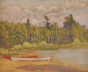 Artwork by Charles William Jefferys, Canoes