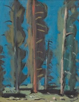 Artwork by Stanley Morel Cosgrove, Paysage au ciel bleu