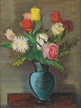 Artwork by Eric Goldberg, Vase of Flowers