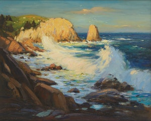 Artwork by Frank Shirley Panabaker, Seascape