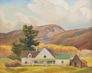 Artwork by Joachim George Gauthier, Farmhouse, Silver Valley, Haliburton