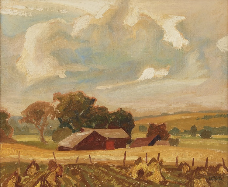 Artwork by Joachim George Gauthier,  Old Farm near Orillia