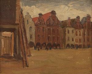 Artwork by John William Beatty, A Street in Laren, Holland