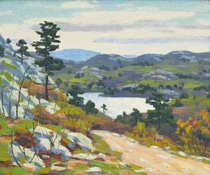 Artwork by George Thomson, Spring in the Northland