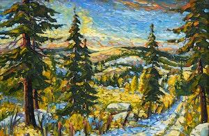 Artwork by Rod Charlesworth, Similkameen Sky