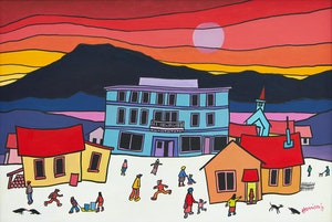 Artwork by Ted Harrison, Carcross