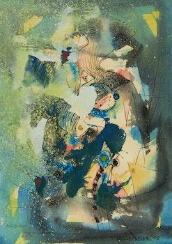 Artwork by Léon Bellefleur, Aigle-Roi