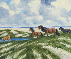Artwork by John Douglas Lawley, Ponies of the Sable Island
