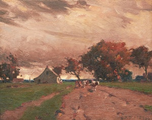 Artwork by John William Beatty, Wandering Cattle