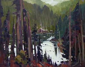 Artwork by Bruno Cote, Lac des Ha-Ha