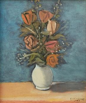 Artwork by Stanley Morel Cosgrove, Roses in a Vase