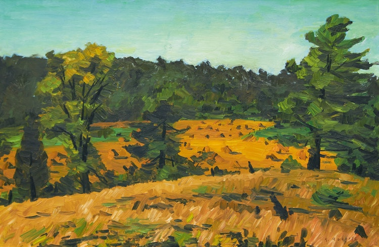 Artwork by William Goodridge Roberts,  Oat Field in the Sun