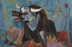 Artwork by Alexander Samuel Millar, Abstract Bull; Lachesis