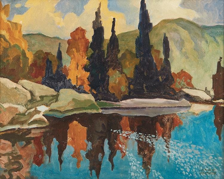 Artwork by Joachim George Gauthier,  Spruce Point, Haliburton