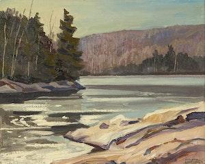 Artwork by Joachim George Gauthier, November Freeze-up, Lake Kushog