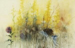Artwork by Marjorie Pigott, Golden Meadow