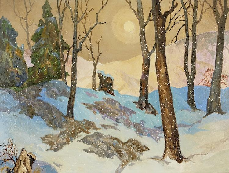 Artwork by Joachim George Gauthier,  Winter Evening