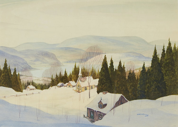 Artwork by Graham Noble Norwell,  Winter Landscape